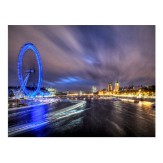 The River Thames at night Post Card