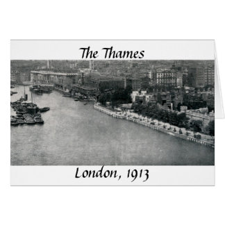 The River Thames, London Card