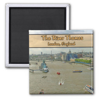The River Thames London England 2 Inch Square Magnet