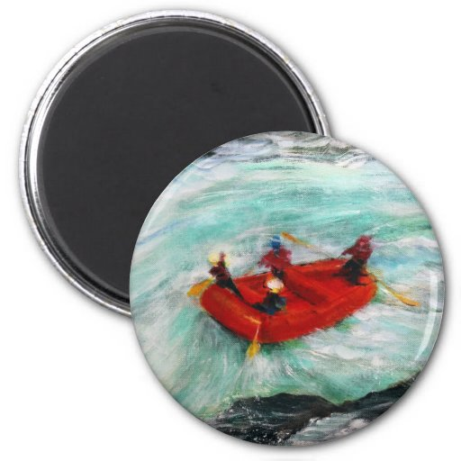 The River Wild 2 Inch Round Magnet