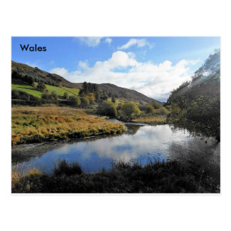 The River Wye, Wales Postcard