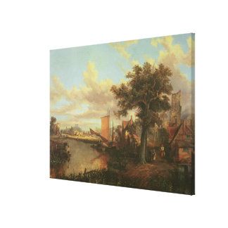 The River Yare with a distant view of Norwich Canvas Print