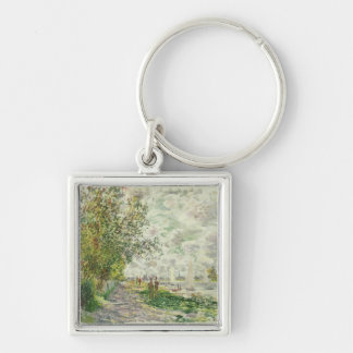 The Riverbank at Gennevilliers, c.1875 (oil on can Keychains