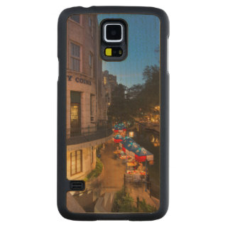 The Riverwalk At Dusk In Downtown San Antonio 2 Carved® Maple Galaxy S5 Case