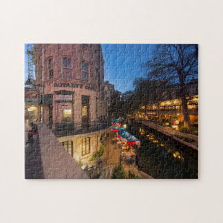 The Riverwalk At Dusk In Downtown San Antonio 2 Jigsaw Puzzle