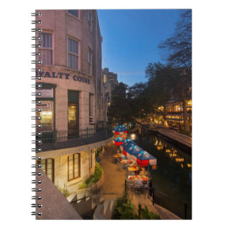 The Riverwalk At Dusk In Downtown San Antonio 2 Notebook
