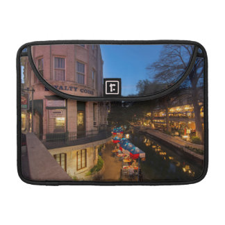 The Riverwalk At Dusk In Downtown San Antonio 2 Sleeve For MacBooks