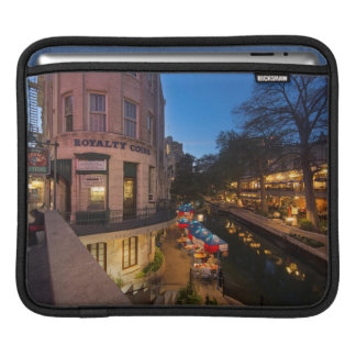 The Riverwalk At Dusk In Downtown San Antonio 2 Sleeves For iPads