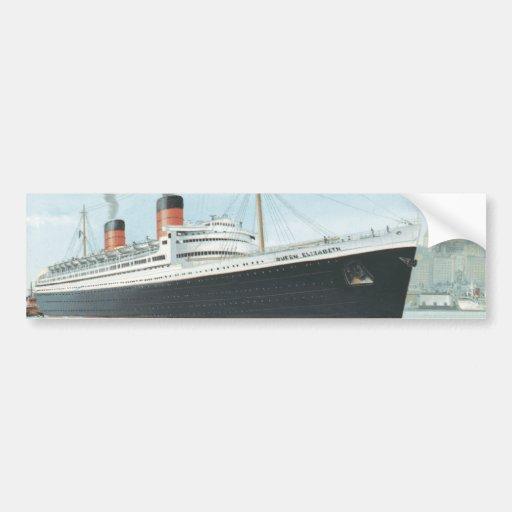 The RMS Queen Elizabeth Sailing Car Bumper Sticker