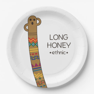 < The ro it is the gu range - (ethnic) > Long Paper Plate