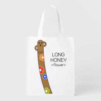 < The ro it is the gu range - (flower) > Long Grocery Bag