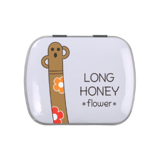 < The ro it is the gu range - (flower) > Long Jelly Belly Candy Tin