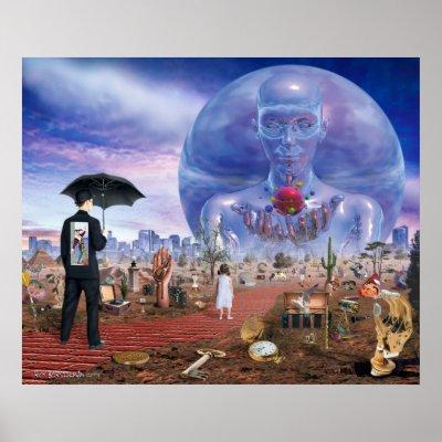 Favorite Surreal Posters - The Road Ahead Print