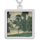 The Road at Pontoise, 1875 Custom Necklace