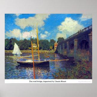 The road bridge, Argenteuil by Claude Monet Poster