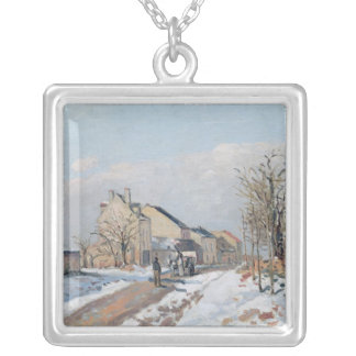 The Road from Gisors to Pontoise Silver Plated Necklace