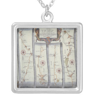 The Road from London to Arundel Silver Plated Necklace
