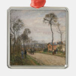 The Road from Louveciennes, 1870 Metal Ornament