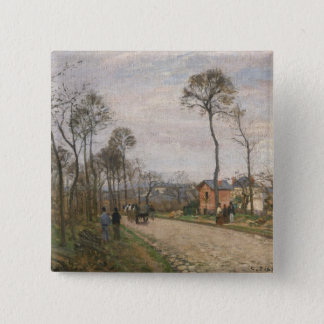 The Road from Louveciennes, 1870 Pinback Button