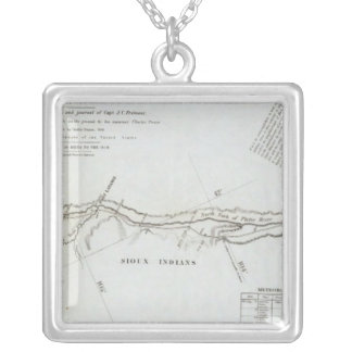 The Road From Missouri to Oregon 5 Silver Plated Necklace