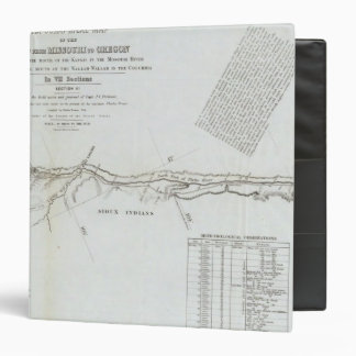 The Road From Missouri to Oregon 5 Vinyl Binder