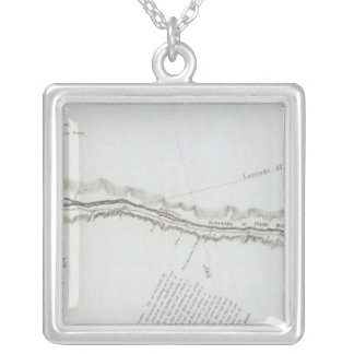 The Road From Missouri to Oregon Silver Plated Necklace