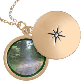 The Road Home - Country Road in Maine Locket Necklace