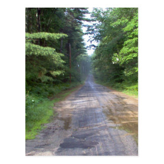 The Road Home - Country Road in Maine Postcard