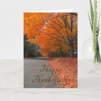 The Road Home Thanksgiving Greeting Card