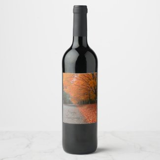 The Road Home Thanksgiving Wine Bottle Label