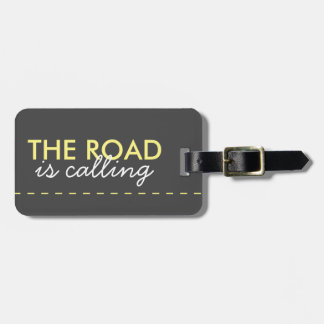 THE ROAD IS CALLING Sunny Yellow -Adventurer Style Bag Tag