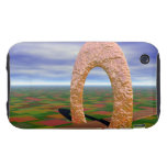 The Road Less Traveled, Abstract Arch, Farmlands iPhone 3 Tough Covers