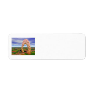 The Road Less Traveled, Abstract Arch, Farmlands Return Address Label