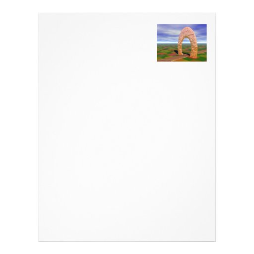 The Road Less Traveled, Abstract Arch, Farmlands Letterhead