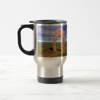 The Road Less Traveled, Abstract Arch, Farmlands Coffee Mug