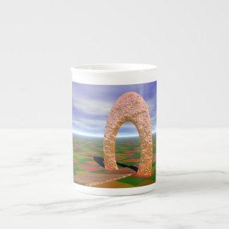 The Road Less Traveled, Abstract Arch, Farmlands Porcelain Mug