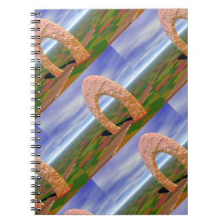 The Road Less Traveled, Abstract Arch, Farmlands Spiral Notebook