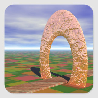 The Road Less Traveled, Abstract Arch, Farmlands Sticker