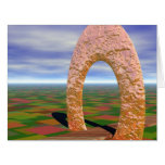 The Road Less Traveled, Abstract Cosmic Trip Large Greeting Card
