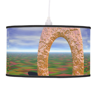 The Road Less Traveled, Abstract Cosmic Trip Hanging Lamp