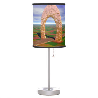 The Road Less Traveled, Abstract Cosmic Trip Table Lamp