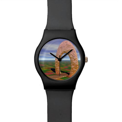 The Road Less Traveled, Abstract Cosmic Trip Wrist Watch