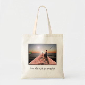 The Road Less Traveled Budget Tote Bag