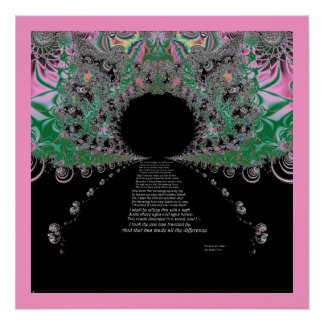 The road less traveled fractal poster