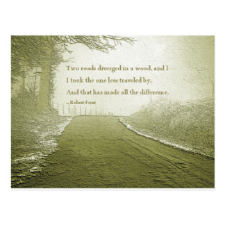 The Road Less Traveled Postcard