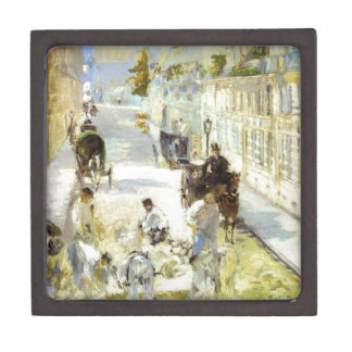 The road-menders, Rue de Berne by Edouard Manet Gift Box
