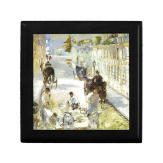 The road-menders, Rue de Berne by Edouard Manet Keepsake Box