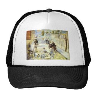 The road-menders, Rue de Berne by Edouard Manet Trucker Hat