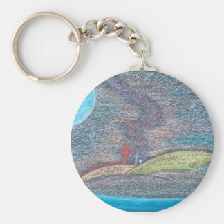 The Road Not Taken or The Road Less Traveled Keychain