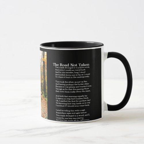 The Road Not Taken _ Printed Poem On Mug _ Autumn